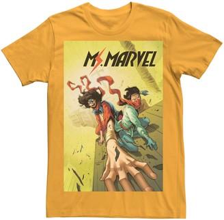 Licensed Character Juniors' Marvel's Ms. Marvel Train Comic Cover Tee