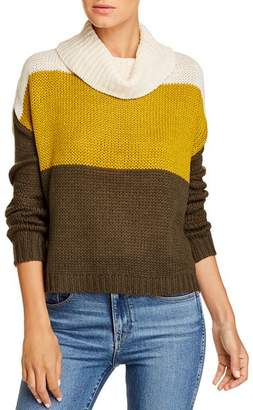 BeachLunchLounge Dara Color-Block Cowl-Neck Sweater
