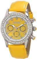 August Steiner Women's AS8018YL Multifunction Dazzling Strap Watch