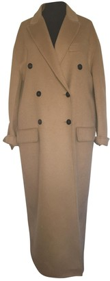 Prada Camel Wool Coat for Women