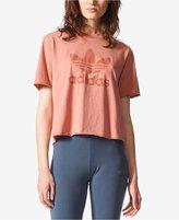 adidas Cotton Cropped Treifoil T-Shirt