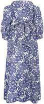 Lisa Marie Fernandez Rosie off-shoulder floral linen maxi dress