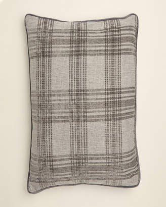 Thro Dark Grey Isaac Plaid Pillow