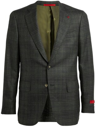 Isaia Check Tailored Jacket