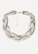 Bebe Faux Pearl Twisted Necklace