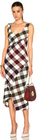 Victoria Beckham Bounce Gingham Open Back Midi Dress