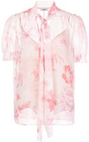 Jason Wu sheer floral print blouse