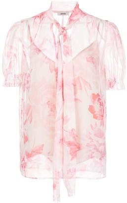 Jason Wu Sheer Floral Print Blouse