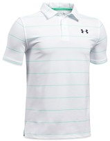 Under Armour Boys' Striped Tech Polo Shirt - Big Kid