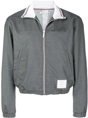 Thom Browne Elastic-Hem Zip-Up Jacket