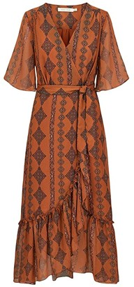 Bishop + Young Delfina Wrap Dress (Zoya Print) Women's Dress