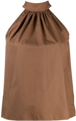 Jejia Tie-Neck Sleeveless Blouse