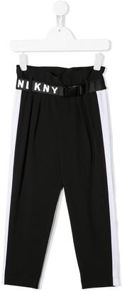 DKNY Logo Buckle Strap Trousers