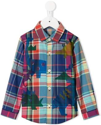 Familiar Plaid Button Front Shirt