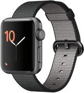 Apple Watch Series 2 38mm Space Gray Aluminum Case with Black Woven Nylon Band