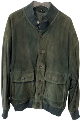 Non Signã© / Unsigned Non SignA / Unsigned Oversize Green Suede Jackets