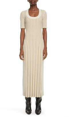 Kenzo Pleated Midi Sweater Dress