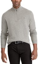 Polo Ralph Lauren Big and Tall Merino Wool Half-Zip Sweater