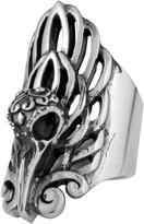 King Baby Studio Sterling Silver Raven Skull Ring