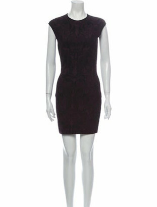 Alexander McQueen Lace Pattern Mini Dress Purple