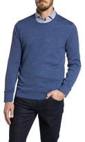 Luciano Barbera Men's Blue Needlepoint Wool & Silk Sweater