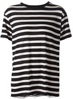R 13 horizontal stripe T-shirt - women - Cotton/Cashmere - XS