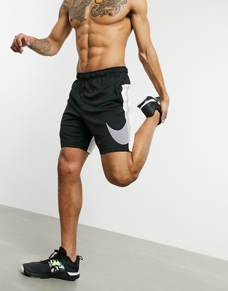Nike Training dry shorts with large logo in black