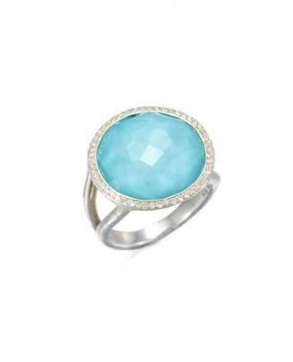 Ippolita Lollipop Medium Sterling Silver, Doublet & Diamond Ring