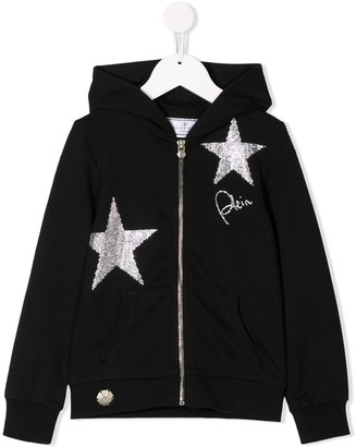 Philipp Plein Junior Stars hoodie sweat jacket