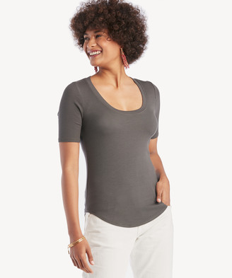 LAmade Women's You Rib Basic Top In Color: Raven Size XS From Sole Society