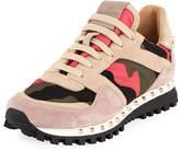 Valentino Rockstud Camo Trainer Sneaker