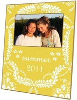The Well Appointed House Yellow Provencial Decoupage Photo Frame-Can Be Personalized