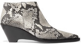 Acne Studios Cammie Snake-effect Leather Ankle Boots - Snake print