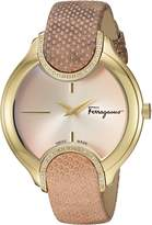 Salvatore Ferragamo Women's 'Signature' Quartz Stainless Steel and Leather Casual Watch, Color: (Model: FIZ050015)