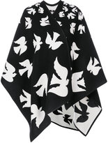Alexander McQueen bird patch cape - women - Cashmere/Wool - One Size