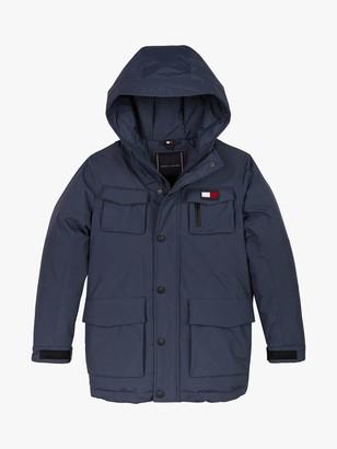Tommy Hilfiger Boys' Technical Parka Coat, Navy