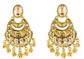 Oscar de la Renta Crystal Filigree Chandelier Earrings