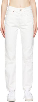 Won Hundred White Pearl Jeans