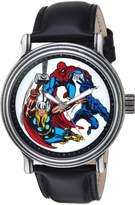 Marvel Men's 'Comics' Quartz Metal Casual Watch, Color: (Model: WMA000048)
