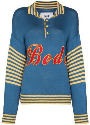 Bode Namesake logo applique jumper
