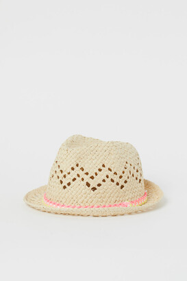 H&M Hole-patterned straw hat