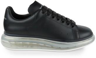 Alexander McQueen Men's Oversized Gel Sole Leather Flatform Sneakers
