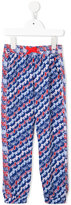 Kenzo printed casual trousers - kids - Polyester/Spandex/Elastane - 8 yrs