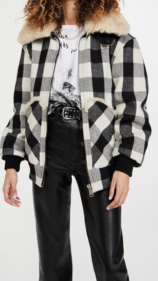 R 13 Exaggerated Collar Bomber Jacket