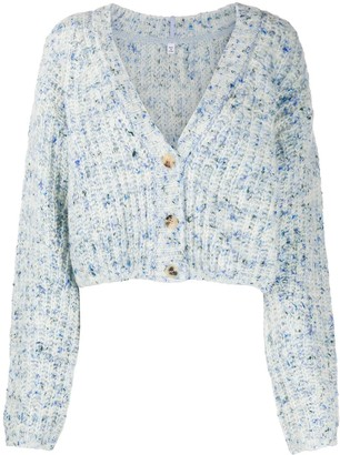 Mcq Swallow Marled-Knit Cardigan
