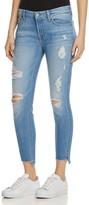 7 For All Mankind Step Hem Skinny Jeans in Melbourne Sky