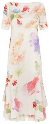 Peter Pilotto Printed Silk Handkerchief Dress