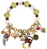 Betsey Johnson A Day At The Zoo Monkey Charm Stretch Bracelet (Multi) - Jewelry