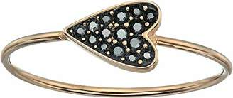 Fossil Women's Heart Rose Gold-Tone Stainless Steel Ring