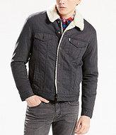 Levi's Faux Sherpa Lined Flannel Trucker Jacket